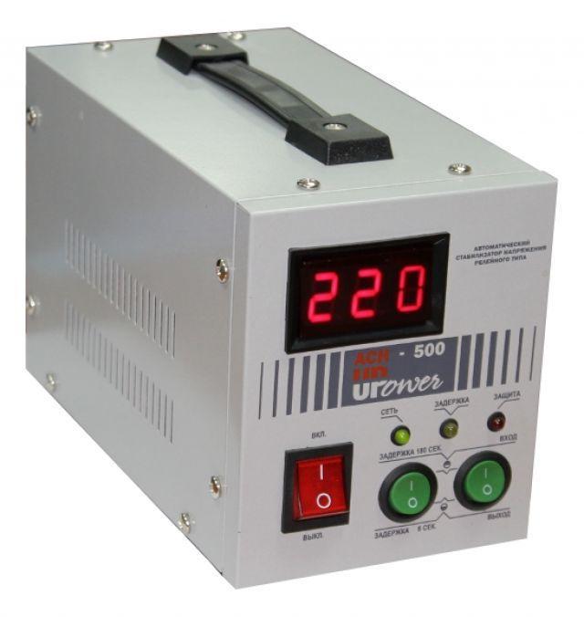 Стабилизатор напряжения Upower АСН-500 с цифровым дисплеем