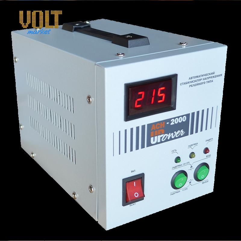 Стабилизатор напряжения Upower АСН-2000 с цифровым дисплеем