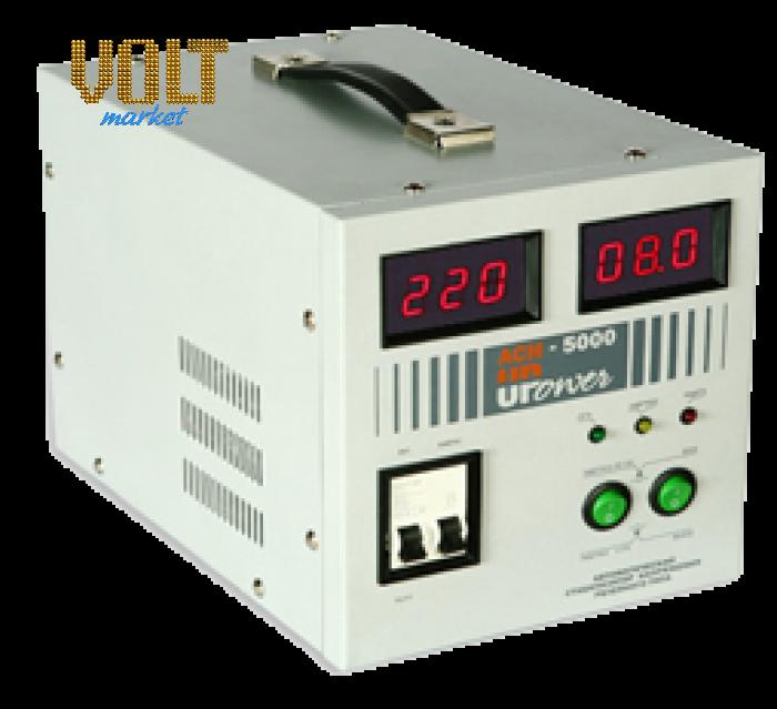 Стабилизатор напряжения Upower АСН-5000  с цифровым дисплеем