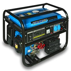 Бензиновая электростанция Etalon EPG 6500 E2 (бензогенератор 5,5 кВт) на колесах, с ручками и аккумулятором