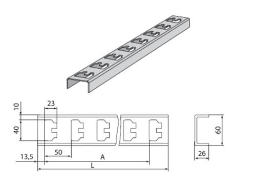 стойка К-1155 цУТ1,5 (горячий цинк) (s=2,5мм)