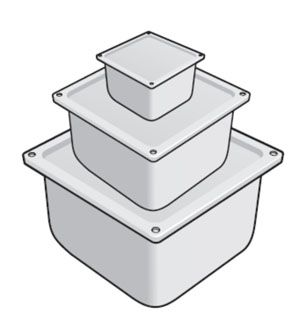 Коробка У995 с упл.(IP54) цинк