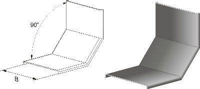 Крышка КУВВ-200 цинк (Крышка угла вертикального вверх)