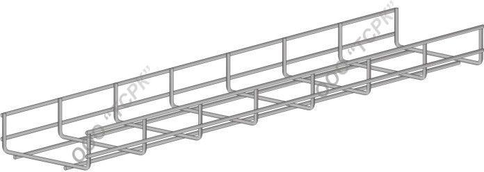 Лоток проволочный ЛПр-150х35х3000 цинк