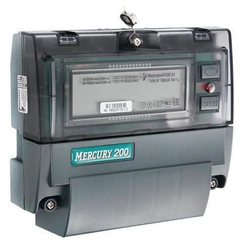 Счетчик электроэнергии однофазный многотарифный Меркурий 200.02