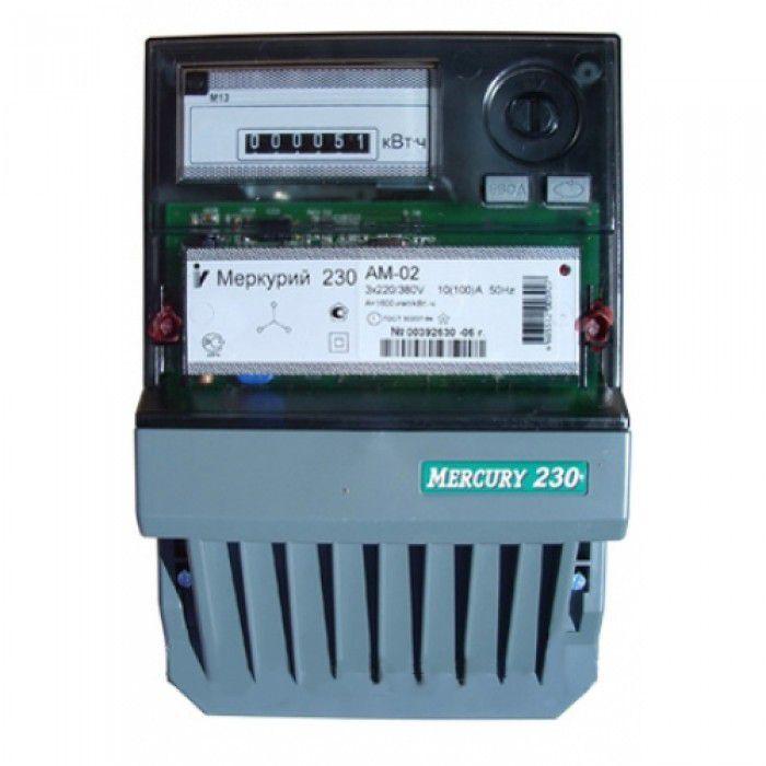 Счетчик электроэнергии трехфазный однотарифный Меркурий 230 AM-02