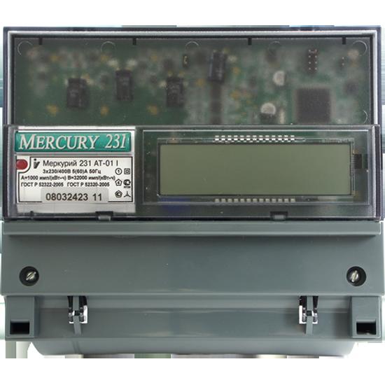 Счетчик электроэнергии трехфазный многотарифный Меркурий 231 AT-01