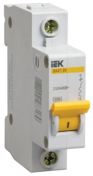Автоматический выключатель ВА47-29 1Р 20 А х-ка С MVA20-1-020-C