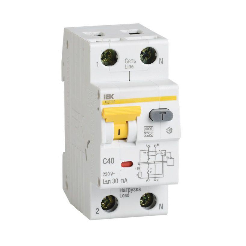 Автоматический выключатель дифф.тока АВДТ32 C32 ИЭК