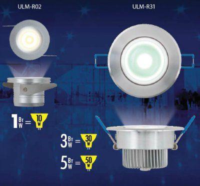 Светодиодные светильники  Uniel 1Вт ULM-R02-1W/NW IP20