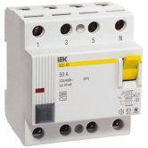 Дифференциальные выключатели ВД1-63 (УЗО) 4Р 25А 100мА