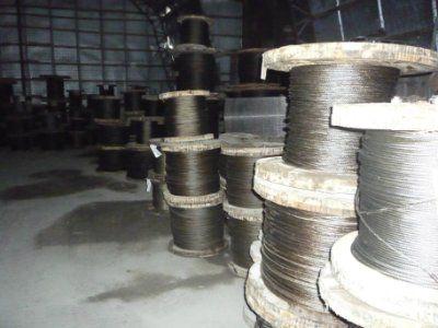 Канат стальной двойной свивки типа ЛК-Р констр. 6*19(1+6+6/6)+1о.с. ГОСТ 2688-80 ф 12,0 мм