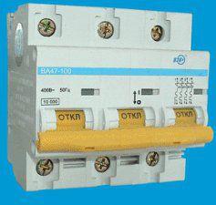 Автоматический выключатель ВА 47-100 3Р 35А 10кА характеристика С