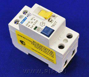 Выключатель дифференциальный ВД1-63 (УЗО тип АС) 2Р 16А 30мА