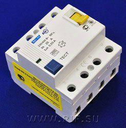 Выключатель дифференциальный ВД1-63 (УЗО тип АС) 4Р 16А 30мА