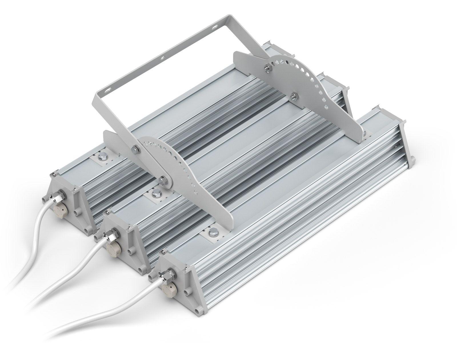 Объединяющая планка на 3 светильника с ухом регулировки