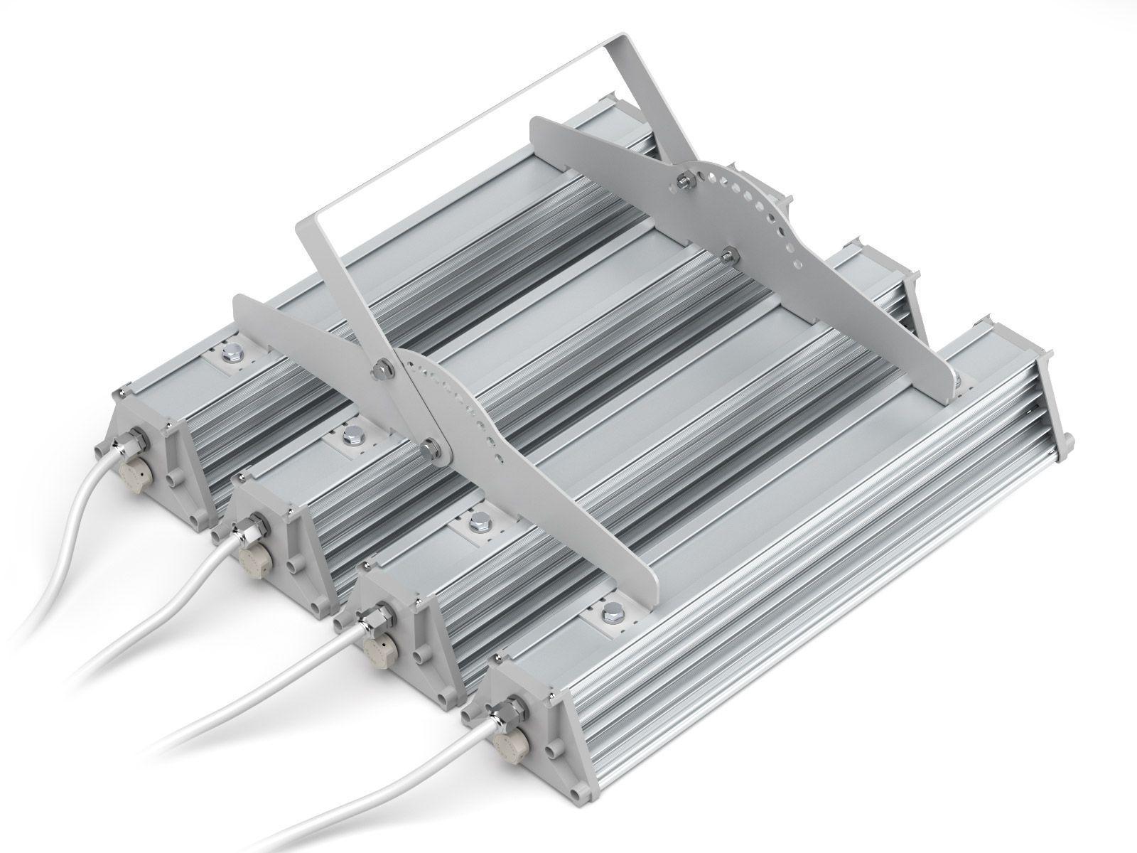 Объединяющая планка на 4 светильника с ухом регулировки