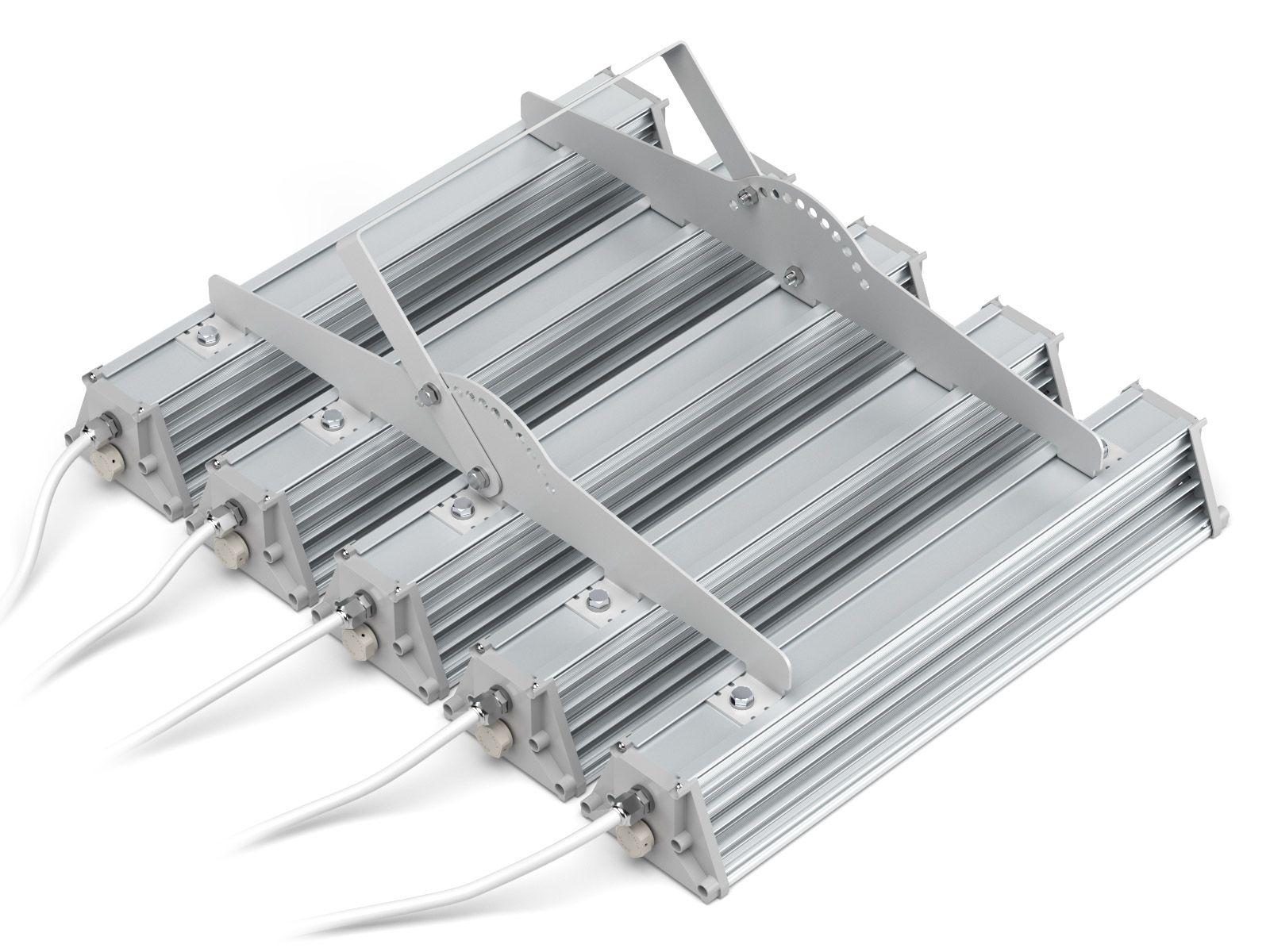 Объединяющая планка на 5 светильника с ухом регулировки