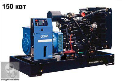Дизель-генератор 150 квт SDMO J200K (Электростанция 150 квт SDMO MONTANA J200 K), генератор трехфазный 230/380 вольт.