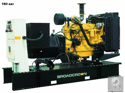 Дизель-генератор 150 квт BROADCROWN BCJD 220 (Электростанция 150 квт BROADCROWN BCJD 220-50), генератор трехфазный 230/380 вольт.