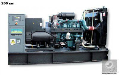 Дизель-генератор 200 кВт AKSA AD275 (Электростанция 200 квт AKSA AD 275), генератор трехфазный 230/380 вольт.