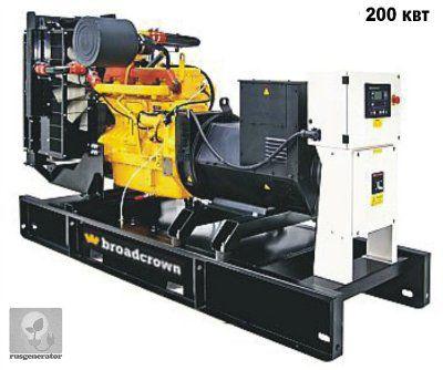 Дизель-генератор 200 кВт BROADCROWN BCJD 275 (Электростанция 200 квт BROADCROWN BCJD 275-50), генератор трехфазный 230/380 вольт.