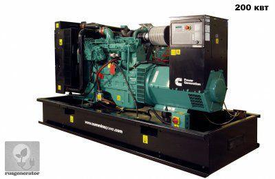 Дизель-генератор 200 квт CUMMINS C275D5 (Электростанция 200 квт CUMMINS C275 D5), генератор трехфазный 230/380 вольт.