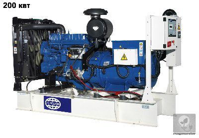 Дизель-генератор 200 кВт FG WILSON P250H2 (Дизельная электростанция 200 квт FG WILSON P275HE2), генератор трехфазный 230/380 вольт.