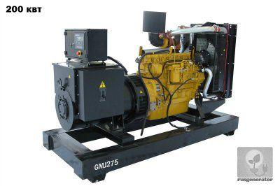 Дизель-генератор 200 кВт GMGEN GMJ275 (Дизельная электростанция 200 квт GMGEN GMJ 275), генератор трехфазный 230/380 вольт.
