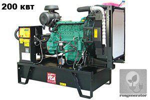 Дизель-генератор 200 кВт ONIS VISA V250 (Дизельный генератор 200 квт ONIS VISA V 250 B), электростанция трехфазная 230/380 вольт.