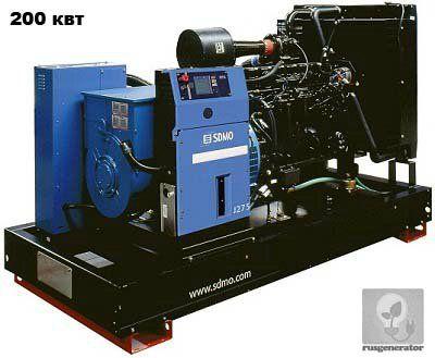 Дизель-генератор 200 кВт SDMO J275K (Дизельная электростанция MONTANA 200 квт SDMO J275 K), генератор трехфазный 230/380 вольт.