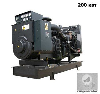 Дизель-генератор 200 кВт WELLAND WP250 (Электростанция 200 квт WELLAND WP 250), генератор трехфазный 230/380 вольт.