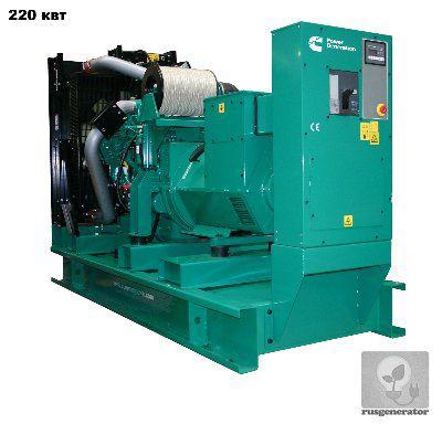 Дизель-генератор 200 квт CUMMINS C300D5 (Дизельная электростанция 200 квт CUMMINS C300 D5), генератор трехфазный 230/380 вольт.