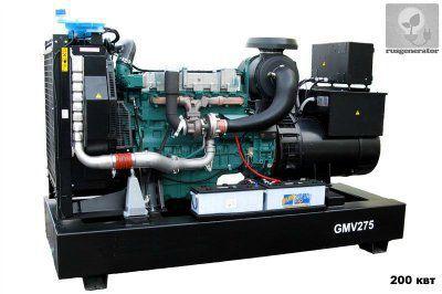 Дизель-генератор 200 кВт GMGEN GMV275 (Электростанция 200 квт GMGEN GMV 275), генератор трехфазный 230/380 вольт.