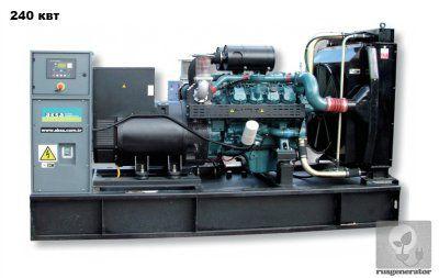 Дизельный генератор 250 квт AKSA AD330 (Электростанция 250 квт AKSA AD 330 DD), генератор трехфазный 230/380 вольт.
