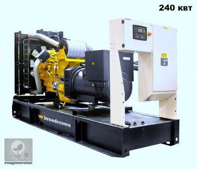 Дизель-генератор 250 квт BROADCROWN BCC 330-50 (Электростанция 250 квт BROADCROWN BCC 330), генератор трехфазный 230/380 вольт.