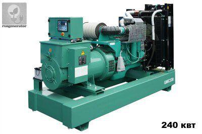 Дизель-генератор 250 кВт GMGEN GMC330 (Электростанция 250 квт GMGEN GMC 330), генератор трехфазный 230/380 вольт.