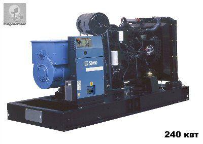 Дизель-генератор 250 квт SDMO D330 (Генератор 250 квт SDMO OCEANIC D330), электростанция трехфазная 230/380 вольт.