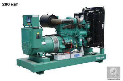 Дизель-генератор 280 кВт GMGEN GMC400 (Дизельная электростанция 280 квт GMGEN GMC 400), генератор трехфазный 230/380 вольт.