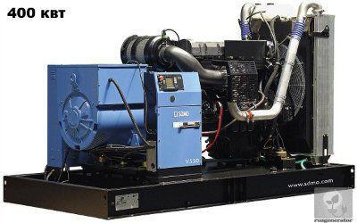 Дизельная электростанция 400 кВт SDMO V550C2 (Дизельный генератор 400 квт SDMO ATLANTIC V550 C2), генератор трехфазный 230/380 вольт.