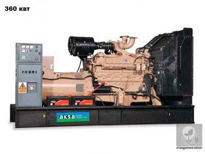 Дизельная электростанция 350 квт AKSA AС500 (Дизельный генератор 350 квт AKSA AС 500), генератор трехфазный 230/380 вольт.