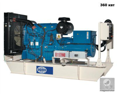 Дизельная электростанция 350 кВт FG WILSON P450P3 (Генератор 350 квт FG WILSON P500E3), генератор трехфазный 230/380 вольт.