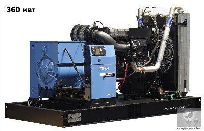 Дизельная электростанция 350 кВт SDMO V500C2 (Дизель-генератор 350 квт SDMO ATLANTIC V500C2), генератор трехфазный 230/380 вольт.