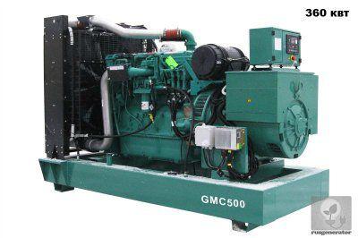 Дизельная электростанция 350 квт GMGEN GMC500 (Дизельный генератор 350 квт GMGEN GMC 500), генератор трехфазный 230/380 вольт.