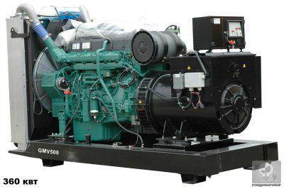 Дизельная электростанция 350 квт GMGEN GMV500 (Дизель-генератор 350 квт GMGEN GMV 500), генератор трехфазный 230/380 вольт.