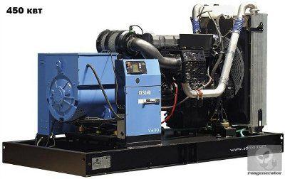 Дизельная электростанция 450 кВт SDMO V630C2 (Дизель-генератор 450 квт SDMO ATLANTIC V630C2), генератор трехфазный 230/380 вольт.