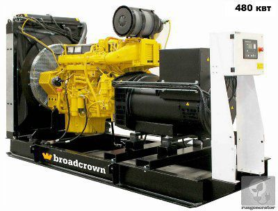 Дизельная электростанция 500 квт BROADCROWN BCV 660 (Генератор 500 квт BROADCROWN BCV 660-50), генератор трехфазный 230/380 вольт.