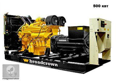 Дизельная электростанция 500 квт BROADCROWN BCC 650 (Дизель-генератор 500 квт BROADCROWN BCC 650P-50), генератор трехфазный 230/380 вольт.