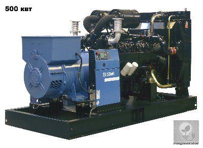 Дизельная электростанция 500 кВт SDMO V700C2 (Дизель-генератор 500 квт SDMO ATLANTIC V700 C2), генератор трехфазный 230/380 вольт. .