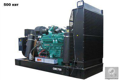 Дизельная электростанция 500 квт GMGEN GMC700 (Дизель-генератор 500 квт GMGEN GMC 700), генератор трехфазный 230/380 вольт.